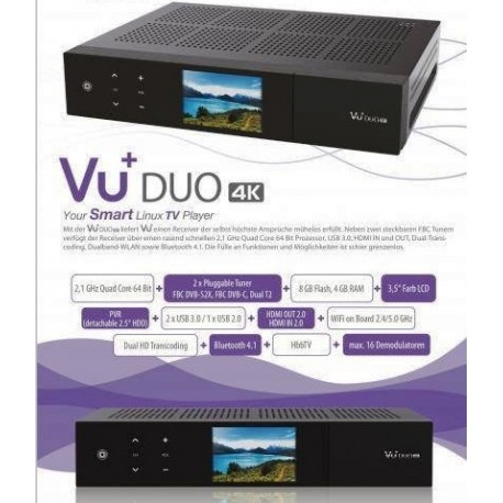 VU+ Duo 4K - 1x DVB-S2X FBC Twin Tuner