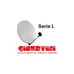 Parabola 100cm OffSet Alluminio bianca - Gibertini Serie L