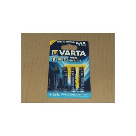 Blister 4 batterie MINISTILO alcaline AAA High energy VARTA
