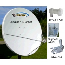 KIT Motorizzato 110cm Laminas - STAB 100 - LNB Smart 0,1