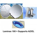 Parab.180 O/S Laminas bianca in Fibra di vetro + AZ EL