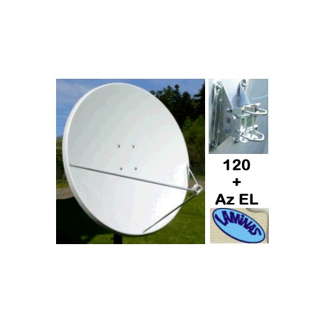 Parabola 120 OffSet Laminas bianca in Fibra di vetro + Az EL