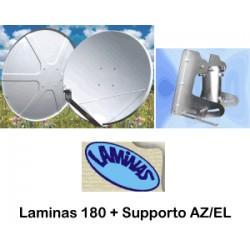 Parab.180 O/S Laminas + AZ EL ( senza imballo ritiro negozio