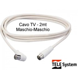 Cavo TV in blister - 2 mt. - maschio-maschio - Telesystem