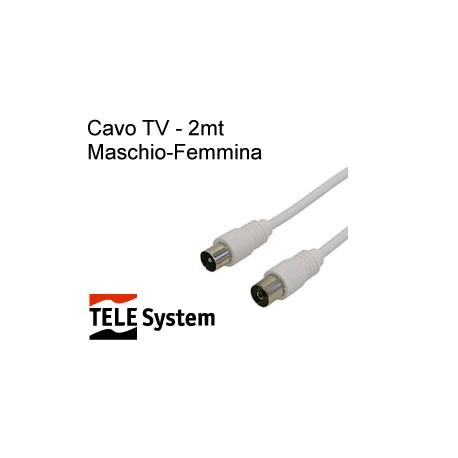 Cavo TV in blister - 2 mt. - maschio-femmina - Teles (sped.grati