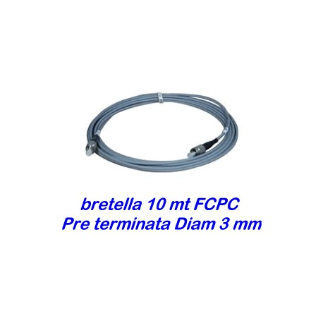 Bretella cavo ottico 10 metri - diam. 3mm - preterminata