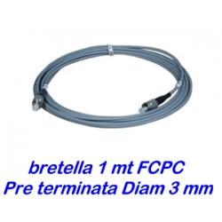 Bretella cavo ottico 1 metro - diam. 3mm - preterminata
