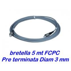 Bretella cavo ottico 5 metri - diam. 3mm - preterminata