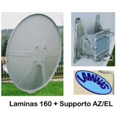 Parabola 160 OffSet Laminas bianca in Fibra di vetro + Az EL