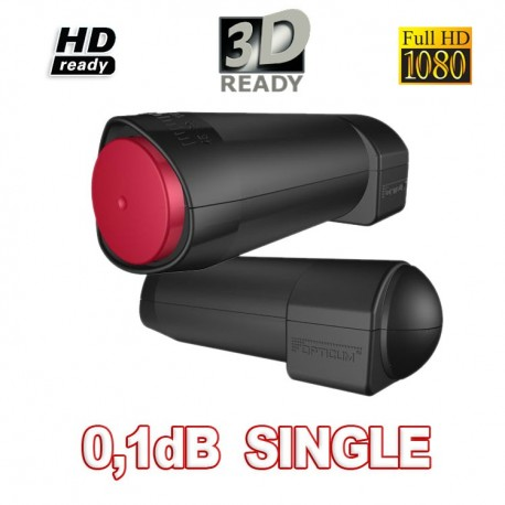 LNB OPTICUM Red ROCKET single 0,1 db indicato x 3 gradi