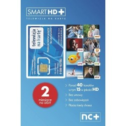 Smart HD+ TELEWIZJA NA KARTE - Ricaricabile 2 mesi Gratis