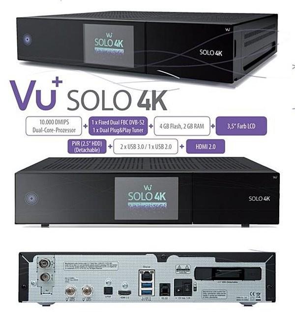 Vu+ Solo 4K - Novità